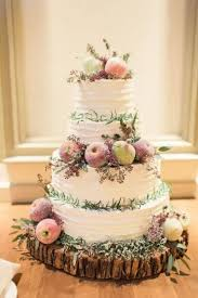 Rustic Feel Cake Decorated With Fruits Of The Season Autumn Wedding Inspiration