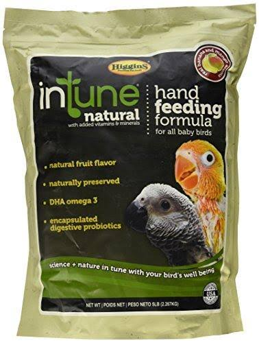 Higgins Intune Natural Hand Feeding Regular Formula Bird Food - 5lb