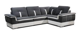basika canapé canape 3 places galaxy blanc microfibre grise
