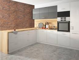 l form küchenzeile essen trend einbauküche 160x253cm weiß front weiß graphit acryl hochglanz