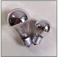 5pcs lot mirror light bulbs halogen bulb big chrome plated