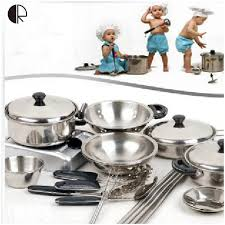 Kids Pretend Play Kitchen Toys 18pcs Set Kitchenware Miniature Cooking For Children Accessories Brinquedo HT139 In From