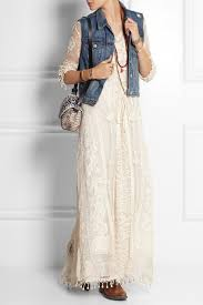 topshop embroidered tulle and crocheted lace maxi dress in white