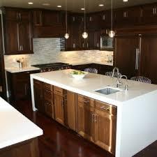 Decor Nice Waterfall Countertop For Your Elegant Kitchen Decorating Ideas Eakeenan