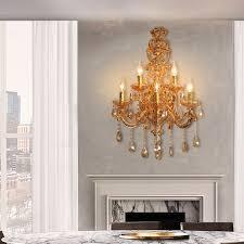 wandleuchte kristall europäischer stil kerzen design 5