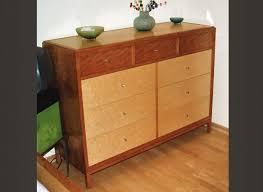 Birdseye Maple Veneer Dresser by Large Furniture