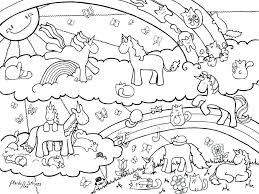 Unicorn Color Pages New Coloring Page Rainbow