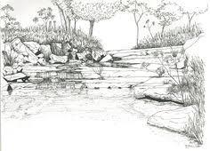River Landscape Coloring Pages