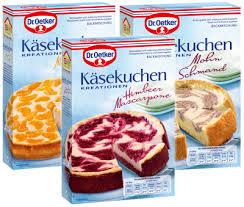 käsekuchen kreationen dr august oetker nahrungsmittel kg