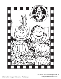 Pumpkin Patch Coloring Pages by Charlie Brown Halloween Charles M Schulz Halloween