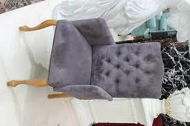 eleganter ohren armlehnen esszimmer stuhl textil samt mit