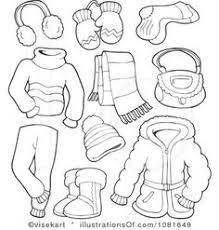 Summer Clothes Clipart Black And White 2