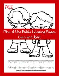Men Of The Bible Coloring Page Cain And Abel