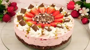 rezept yogurette erdbeer torte ohne backen no bake erdbeertorte