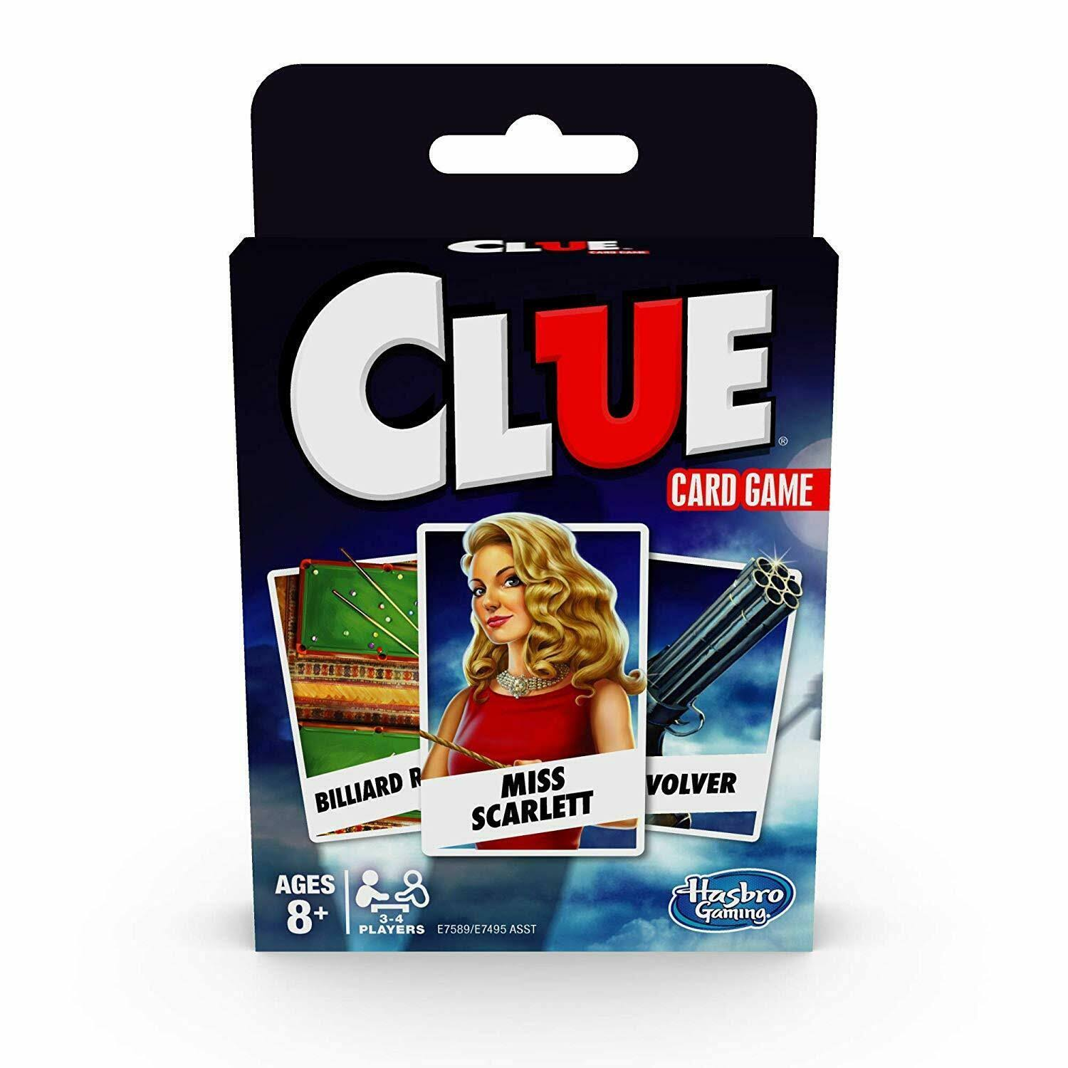 Clue Card Game for 3-4 Players, Kids Ages 8 and Up