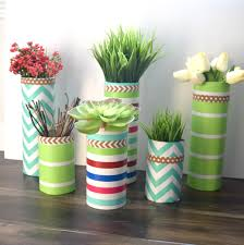 DIY My Spring Glass Vase And Wrapping Paper Craft