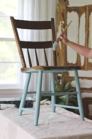 painted chair for outdoors love grows wild