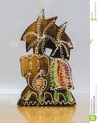 Handicraft Wood Elephant Stock Image Of East Decorative