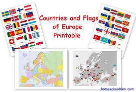 FREE European Countries Flag And Printables
