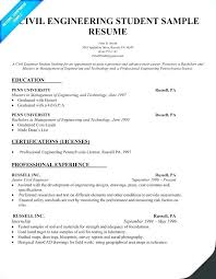Resume For Civil Engineer Fresher Doc Download Of Format Luxury Sample With Regard To Engineering Student Example