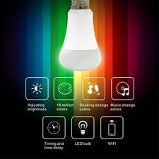 china wi fi smart led bulb remote by smartphone can be