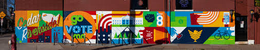 The Murals Of Lynlake by Go Vote Minnesota U2013 Burlesque Public Works
