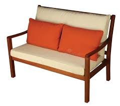 Download Wooden Sofa With Cushion Stock Image Of Furniture