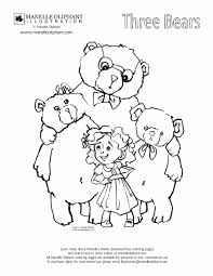 Printable Goldilocks And The Free Colouring Pages In Three Bears Coloring