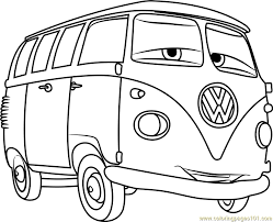 Fillmore From Cars 3 Coloring Page