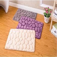 ubrush neue teppich flanell anti slip vier farbe 40 60 cm drei farbe weiß grau lila für hause bad küche teppich