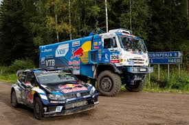 100 Duel Truck Driver Rally Finland Ouninpohja Stage VW Race Kamaz Over Jumps