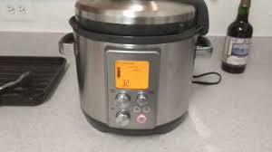 Bed Bath Beyond Pressure Cooker by New Breville Fast Slow Cooker Letting Off Steam Youtube