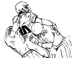 Coloring Pages Football And On Pinterest Within Players