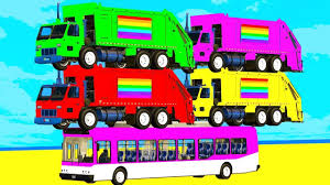 100 Trash Truck Videos For Kids Youtube COLORS CARS GARBAGE TRUCK BUS Superman Cartoon For W Cars