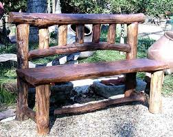 Wood Lawn Bench Plans by Best 25 Rustic Outdoor Benches Ideas On Pinterest Log Chairs