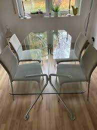 moderne tisch stuhl sets aus glas fürs esszimmer günstig