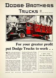 100 Brothers Classic Trucks 1929 Advert Dodge Transportation Labor Farmer