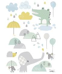sticker chambre bébé sticker chambre bébé éléphant
