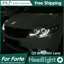 akd car styling for kia forte headlights 2010 2014 cerato led