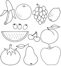 Fresh Fruits Coloring Pages 50 For Books With
