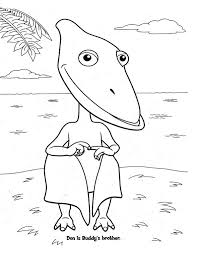 Dinosaur Train Coloring Pages Don