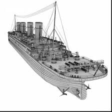 Excellent Titanic Ship Model With Coloring Pages And Lego