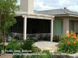 Roll Up Patio Screens by Inspirations Shade Patio Covers And Sun Screens For Patios Image