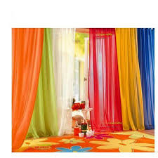 6 piece rainbow sheer window panel curtain set blow out pprice