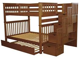 Bunk Beds Full over Full Stairway Expresso Trundle