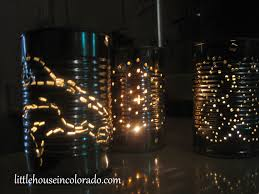 Punched Tin Lamp Shade Country by Little House In Colorado Diy Tin Can Lanterns