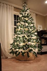 I Love The Clean Look Of White Lights Silver Ornaments Cream Ribbon My Tree Has A Very Similar Instead Using Skirt