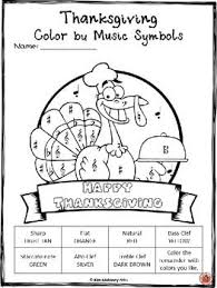 Music Coloring Pages 30 Thanksgiving Sheets