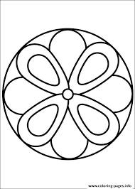 Easy Simple Mandala 63 Coloring Pages Print Download 607 Prints