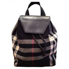 burberry siege social burberry backpack black fabric ref a145950 instant luxe